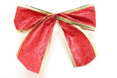 Κόκκινος δεσμός δώρων Στοκ φωτογραφία με δικαίωμα ελεύθερης χρήσης