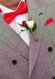 κόκκινος δεσμός νεόνυμφων τόξων στοκ φωτογραφία με δικαίωμα ελεύθερης χρήσης