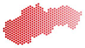 Κόκκινος διαστιγμένος χάρτης της Σλοβακίας ελεύθερη απεικόνιση δικαιώματος