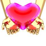 κόκκινος διαφανής καρδιών χεριών ελεύθερη απεικόνιση δικαιώματος