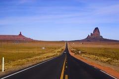 κόκκινος δρόμος ερήμων Στοκ Εικόνες
