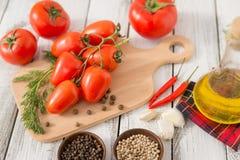 Κόκκινος - εύγευστες ντομάτες Στοκ Εικόνες