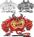 Κόκκινος διάβολος από την κόλαση ελεύθερη απεικόνιση δικαιώματος