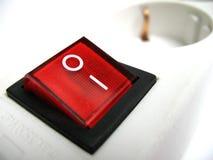 κόκκινος διακόπτης ισχύος Στοκ εικόνα με δικαίωμα ελεύθερης χρήσης
