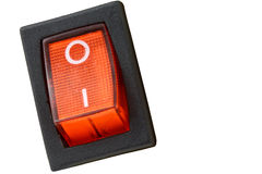 Κόκκινος διακόπτης δύναμης στοκ φωτογραφία με δικαίωμα ελεύθερης χρήσης