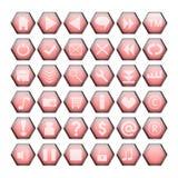 κόκκινος Ιστός κουμπιών απεικόνιση αποθεμάτων