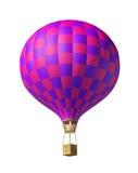Κόκκινος-ιώδες μπαλόνι Ελεύθερη απεικόνιση δικαιώματος