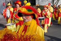 κόκκινος κίτρινος καρναβαλιού Στοκ εικόνα με δικαίωμα ελεύθερης χρήσης
