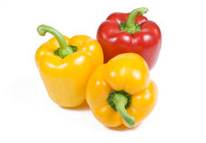 κόκκινος κίτρινος πιπερι στοκ φωτογραφία
