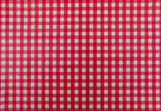 Κόκκινος και άσπρος επιτραπέζιος χάρτης Στοκ Φωτογραφίες