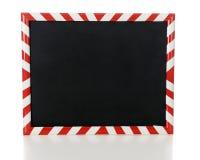 Κόκκινος και άσπρος πλαισιωμένος λωρίδα πίνακας στοκ εικόνες