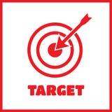 Κόκκινος και άσπρος στόχος βελών Στοκ εικόνα με δικαίωμα ελεύθερης χρήσης
