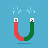 Κόκκινος και πράσινος μαγνήτης απεικόνιση αποθεμάτων
