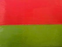 Κόκκινος και πράσινος ξύλινος τοίχος Στοκ φωτογραφία με δικαίωμα ελεύθερης χρήσης