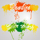 Κόκκινος και πράσινος παφλασμός watercolors χρώματος Στοκ Εικόνες