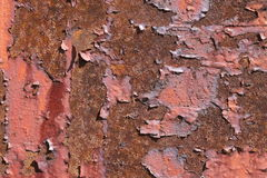 Κόκκινος και σκουριασμένος Στοκ εικόνα με δικαίωμα ελεύθερης χρήσης