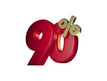 90% κόκκινος και χρυσός Στοκ Εικόνα