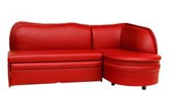 κόκκινος καναπές επίπλων Στοκ Φωτογραφία