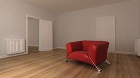 κόκκινος καναπές Απεικόνιση αποθεμάτων