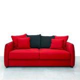 κόκκινος καναπές Στοκ Φωτογραφία