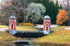 Κόκκινος καταρράκτης στο πάρκο της Catherine Στοκ Φωτογραφία