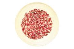 Κόκκινος - καυτά πιπέρια τσίλι Στοκ Εικόνα