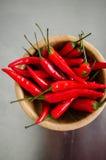 Κόκκινος - καυτά πιπέρια τσίλι Στοκ Φωτογραφία
