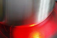 Κόκκινος - καυτή κεραμική κουζίνα λεπτομέρειας hotplate Στοκ Φωτογραφία