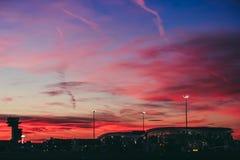 Κόκκινος - καυτός ουρανός Στοκ Φωτογραφία