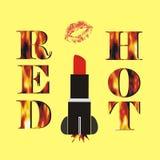 Κόκκινος - καυτός πύραυλος κραγιόν στοκ φωτογραφία με δικαίωμα ελεύθερης χρήσης