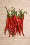Κόκκινος - καυτό πιπέρι τσίλι Στοκ εικόνα με δικαίωμα ελεύθερης χρήσης