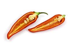 Κόκκινος - καυτό πιπέρι τσίλι Στοκ Εικόνες