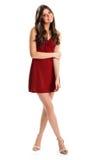 κόκκινος κοντός κοριτσι Στοκ Φωτογραφία