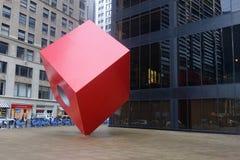 Κόκκινος κύβος Στοκ Φωτογραφίες