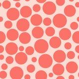 Κόκκινος κύκλος χρώματος χαοτικός κύκλος σχεδίων πρότυπο άνευ ραφής ελεύθερη απεικόνιση δικαιώματος