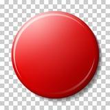Κόκκινος μαγνήτης με τη σκιά και αντανάκλαση χρώματος, κυριώτερα σημεία που απομονώνονται στο υπόβαθρο transparancy Στοκ Φωτογραφία