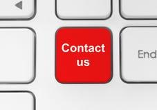Κόκκινος μας ελάτε σε επαφή με κουμπί ελεύθερη απεικόνιση δικαιώματος