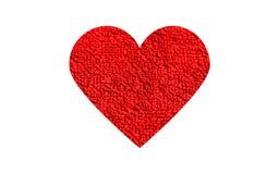 κόκκινος μαλακός καρδιών Στοκ Εικόνες