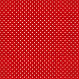 κόκκινος μικρός ανασκόπησης polkadots Στοκ Φωτογραφίες