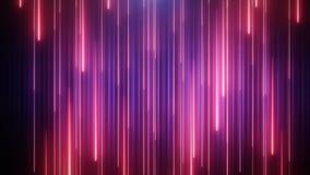 Κόκκινος-μπλε υπόβαθρο ζωτικότητας VJ νέου με τα λαμπρά μόρια διανυσματική απεικόνιση