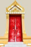 Κόκκινος ναός πορτών Στοκ φωτογραφία με δικαίωμα ελεύθερης χρήσης