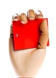 κόκκινος ξύλινος χεριών κ& Στοκ φωτογραφία με δικαίωμα ελεύθερης χρήσης