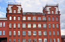 Κόκκινος Οκτώβριος σύνθετος στη Μόσχα στοκ φωτογραφία