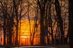 Κόκκινος ουρανός πυρκαγιάς Στοκ εικόνα με δικαίωμα ελεύθερης χρήσης