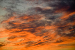 Κόκκινος ουρανός Στοκ Φωτογραφίες