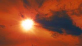Κόκκινος ουρανός απόθεμα βίντεο