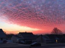 κόκκινος ουρανός Στοκ Φωτογραφία