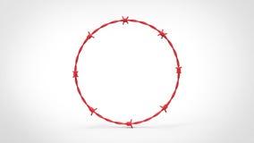 Κόκκινος οδοντωτός - δαχτυλίδι καλωδίων Στοκ Εικόνες