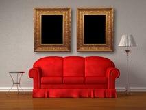 κόκκινος πίνακας στάσεων  Στοκ Εικόνα