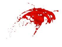 Κόκκινος παφλασμός πέρα από το άσπρο υπόβαθρο Στοκ φωτογραφίες με δικαίωμα ελεύθερης χρήσης
